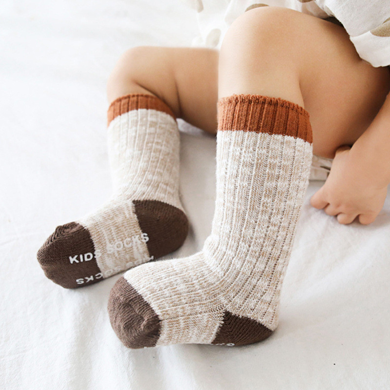 Winter Baby Socks Knitted Thick Warm Socks for Girls Anti Slip Knee Baby Boy Socks Casual Winter Leg Warmers Suitable for 0-8T 2