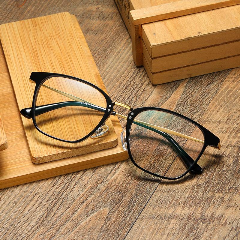 Pure B Titanium Optical Glasses Frame Men Vintage Square Prescription Eyeglasses Women Retro Myopia Spectacles Eyewear 3060