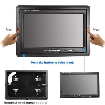 12 V 24 V 7 pollici TFT LCD A Colori HD Monitor per Auto CCTV Inversione di Retrovisione di Backup Della Macchina Fotografica-in Monitor per auto da Automobili e motocicli su