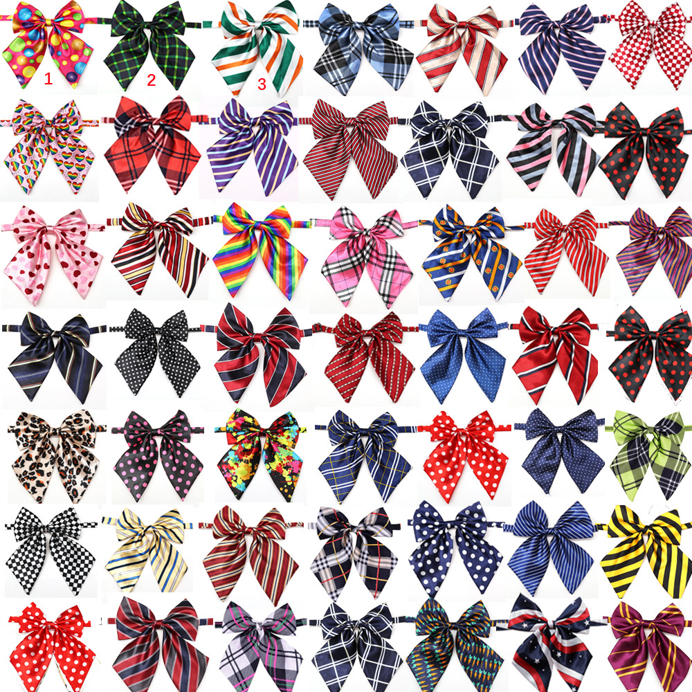 En gros 100 pièces chien accessoires fournitures pour animaux de  compagnie chien noeud papillon cravates pour animaux de compagnie  décoration de mariage collier de chien noeud papillon 50 couleursties  petpet bowtiedog bow tie christmas