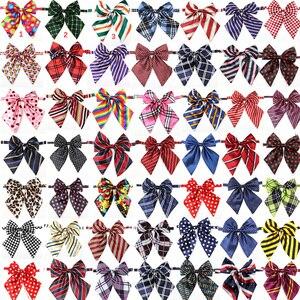Image 1 - En gros 100 pièces chien accessoires fournitures pour animaux de compagnie chien noeud papillon cravates pour animaux de compagnie décoration de mariage collier de chien noeud papillon 50 couleurs