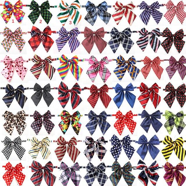 En gros 100 pièces chien accessoires fournitures pour animaux de compagnie chien noeud papillon cravates pour animaux de compagnie décoration de mariage collier de chien noeud papillon 50 couleurs