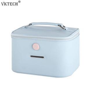 Портативный 12 Светодиодный УФ стерилизатор коробка сумка для хранения бутылочка для кормления маска зубная щетка ультрафиолетовая дезинф...