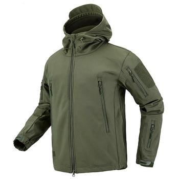 Winter TAD Tactical Softshell Camouflage Jacket Men Shark Skin Army Camo Windbreaker Waterproof Hunting Clothes Military Jackets 3