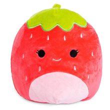 8 Polegada morango almofada sofá travesseiro de pelúcia recheado frutas huggable brinquedo ornamentos brinquedo de pelúcia o morcego presente aniversário peluches