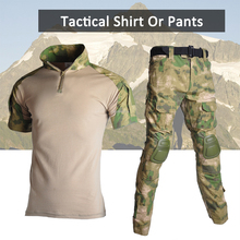 Airsoft Paintball Uniforms Camouflage Military Tactical Hunting Short Sleeves Clothes Summer Men Women Shooting Cs Army Suits