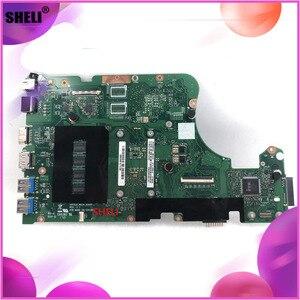 Dla ASUS X555LA I3-4030U 60NB0650-MB1820 X555LD płyta główna 4GB Laptop płyta główna REV 3.1 100% testowane dobry