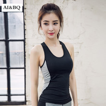 AI & BQ Running Workouts Kleding Open Back Yoga Tank Tops Stretch Sexy Blouse Gym Mouwloze Shirts Sport Top(China)