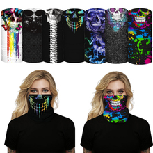 Skull Scarf Mask Motorcycle Cycling-Accessory Neck-Cover Printing Outdoor Anti-Uv Ride
