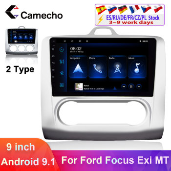 Camecho 2 din Android 9.1 Car GPS Multimedia Player 9 Wifi 2.5D Screen Car Stereo For For Ford Focus Exi MT 2004-2011 Autoradio image
