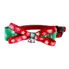 Pet Xmas Party Neck Bow Ties Dog Neckties Bowknot Collar  Adjustable For Christmas Carnival
