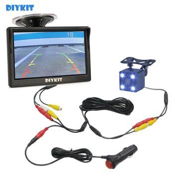 DIYKIT 5 #8222 800 #215 480 Monitor samochodowy hd wodoodporna odwrotna widzenie nocne led kamera samochodowa tylna bezpieczeństwa z monitorem tanie i dobre opinie Z tworzywa sztucznego Drut Pojazd backup kamery 800 x 480 IP67 480 TVLines