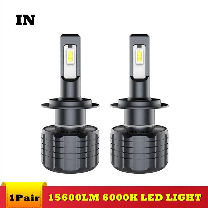 IN 2PCS Car H7 LED Headlight Bulb D1S Led Headlamp SAMSUNG Chip 80W 15600LM H1 H4 H11 9005 9006 D2S D3S D4S HB3 Fog Lights 6000k