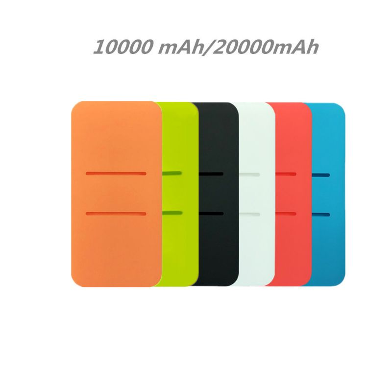 Silicone Protector Bag ForXiao Mi 2 10000/20000mAh Dual USB Power Bank Powerbank 24BB