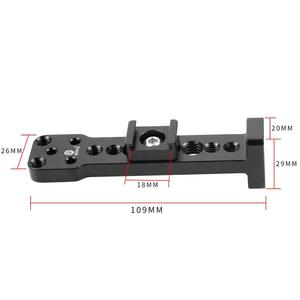 Image 5 - Aluminium External Extension Mounting Plate Bracket Quick Release for Mic Monitor Arm Adapter for Ronin S Handheld Gimbal