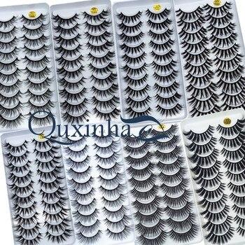 NEW 5/10 Pairs Natural False Eyelashes Fake Lashes Long Makeup 3d Mink Lashes Extension Eyelash Mink Eyelashes for Beauty 54 1