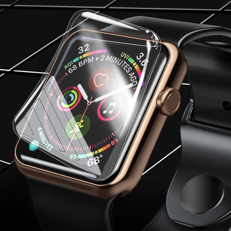 Protective Film For Apple Watch 4 5 3 2 Full Coverage Not Tempered Glass For Iwatch 44mm 40mm 42mm 38mm Apple Watch Accessories