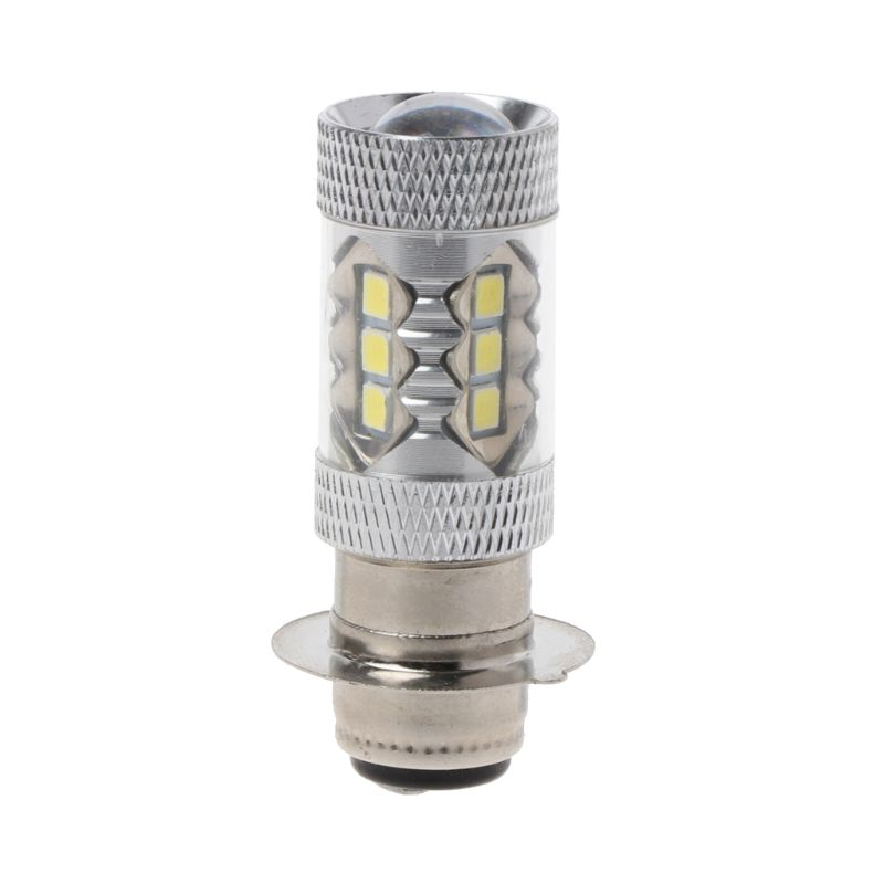 PX15D H6 80W 6500K <font><b>16</b></font> <font><b>LED</b></font> White Headlight <font><b>Fog</b></font> Light Driving Bulb <font><b>Lamp</b></font> For Motorcycle Bicycle Bike energy saving image