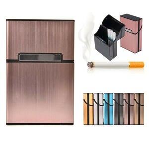 Ultra Thin Fashion Aluminum Metal Cigarette Case Tobacco Cigar Holder Pocket Box Container Pack Mini Cigarette Holder Household(China)