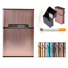 Ultra Thin Fashion Aluminum Metal Cigarette Case Tobacco Cigar Holder Pocket
