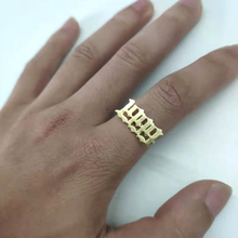 Number Rings For Women Custom Gold Ring Men Anillo Hombre Old English Font Year 1993 1994 1995 1996 1997 1998 1999 Jewelry