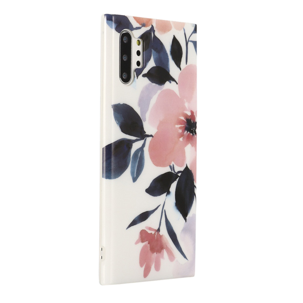 Floral Hard Case Cover For Samsung Galaxy Note 10+ Flower Floral Full-Body Protective Girls Cover