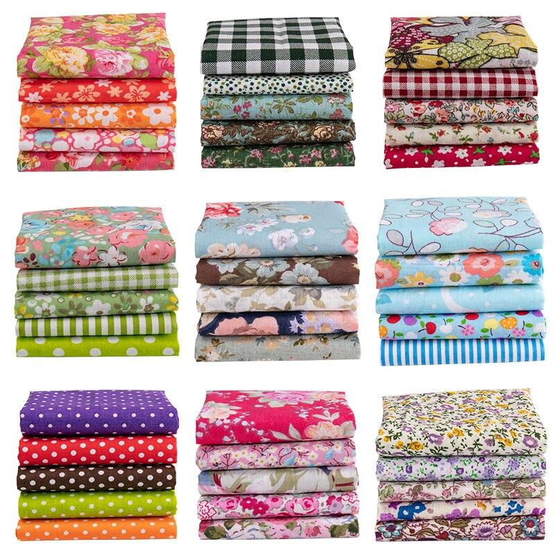 25x25cm /Pc Vintage Printed Patchwork Fabrics Doll Handmade Accessories Floral Cotton Fabrics For DIY TJ0537-2-2