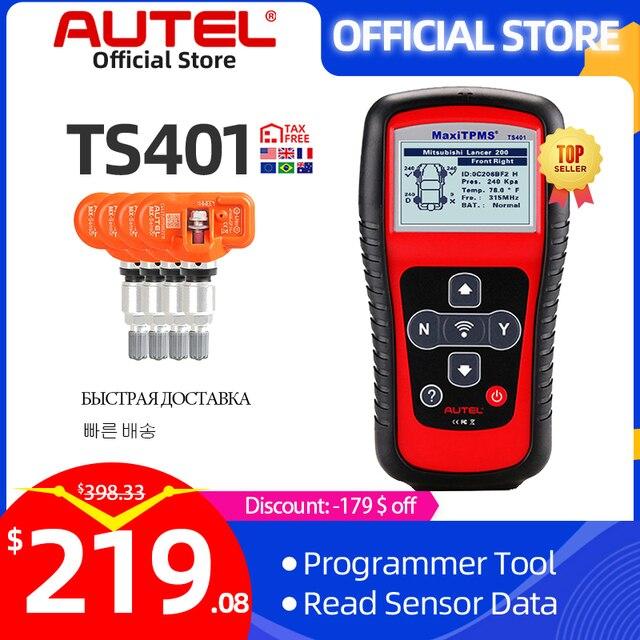 Autel MaxiTPMS TS401 TPMS Tool Programming MX Sensor OBD2 Scanner OBDII OBD 2 Car Diagnostic Tool Activate 315 433MHZ Sensor