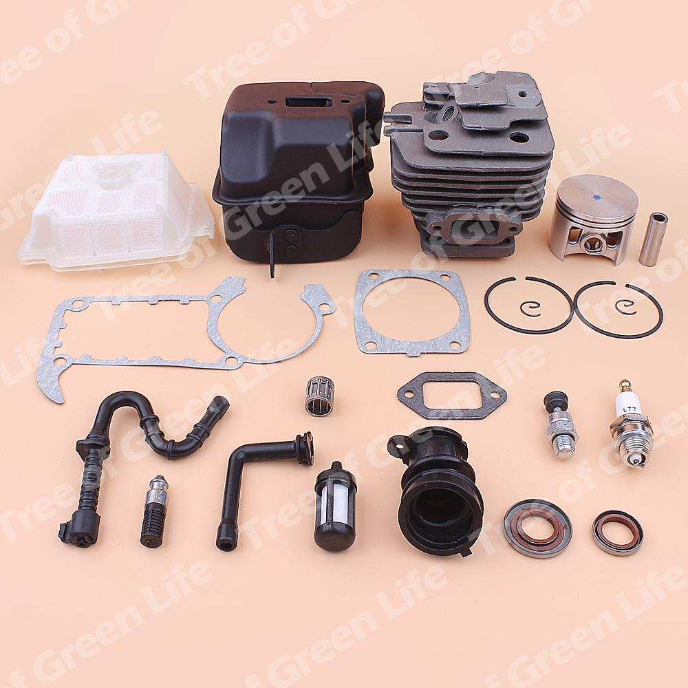 Tools : 49mm Cylinder Piston Exhaust Muffler Kit For Stihl MS361 MS 361 Air Fuel Oil Filter Line Intake Manifold Gasket 1135 020 1202