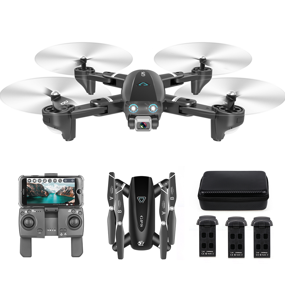 CSJ S167 GPS Foldable Drone With Camera 4K 5G WIFI FPV Drone Way-point Flying Gesture Photos Video RC Quadcopter Helicopter Toys