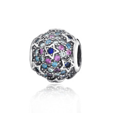 New Arrival 100% New Beads Elevated Stars Pave Charm  fit Original Pandora Bracelets Women DIY Jewelry new arrival love heart flower forever cartoon crystal beads fit original pandora charm bracelets