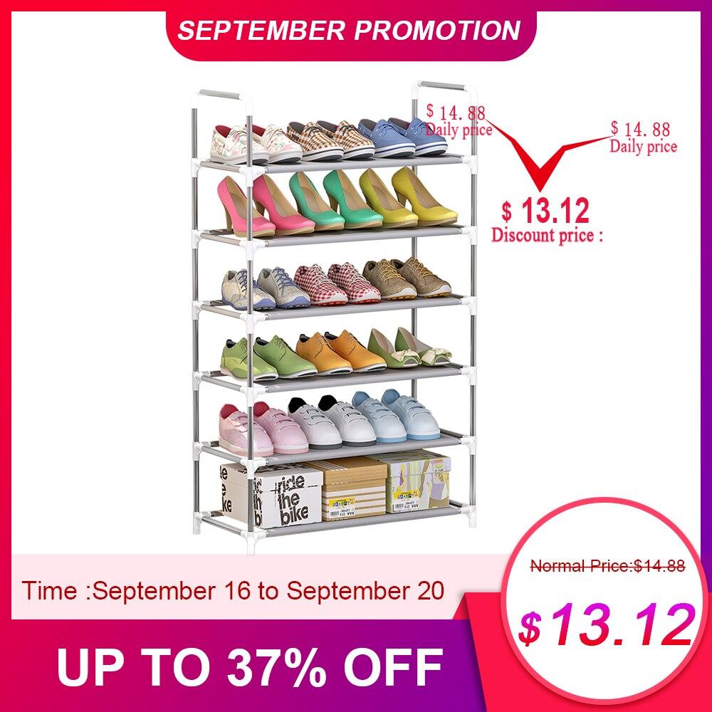 4/5/6-Tier Shoes Racks Shelf Large Stackable Shoes Cabinet Shelves Holds Shelf For Shoe Book Home Storage Shoes Organizer