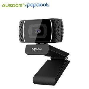 Веб-камера PAPALOOK PA327 Full HD, встроенный микрофон, веб-камера, автоматический светильник, коррекция, для компьютера, ноутбука, прямой трансляции