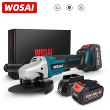 WOSAI MT-Series Brushless Electric Angle Grinder 20V Lithium-Ion Battery Machine Grinding Machine 125mm Cordless Power Tools