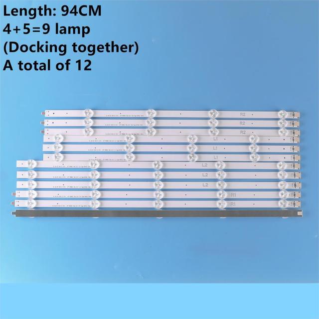 (Nouveau Kit dorigine) 12 pièces LED bande de rétro éclairage pour LG TV 47LA620S 6916L 1259A 6916L 1260A 6916L 1261A 6916L 1262A LC470DUE