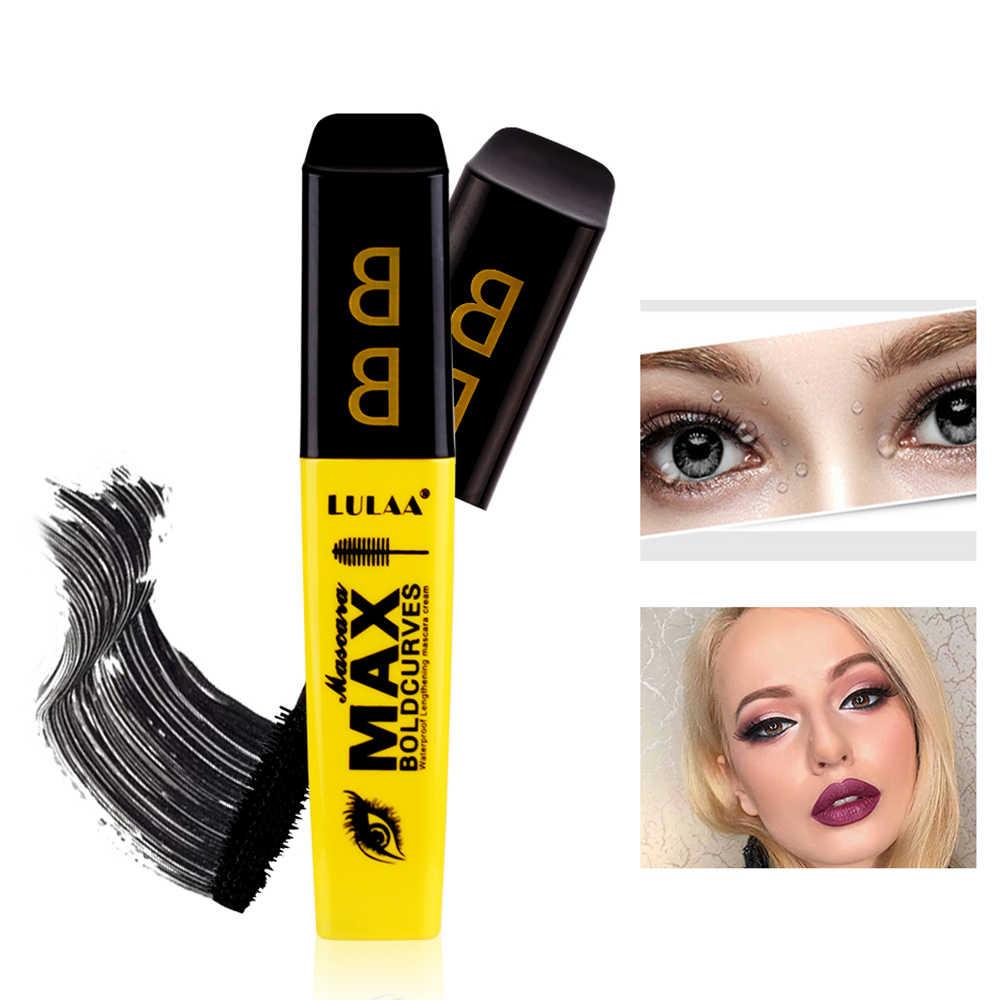 Fiber Lashes kalın uzatma su geçirmez maskara uzun siyah kirpik kirpik uzatma göz Lashes fırça makyaj Pro göz-kozmetik