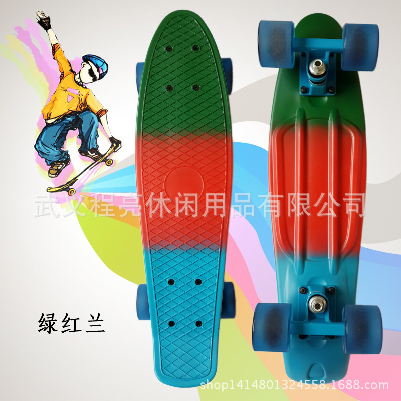 Manufacturers Direct Selling Skateboard Banana Fish Skateboard Color Mixture Rainbow Adult Fish Skateboard A Generation Of Fat
