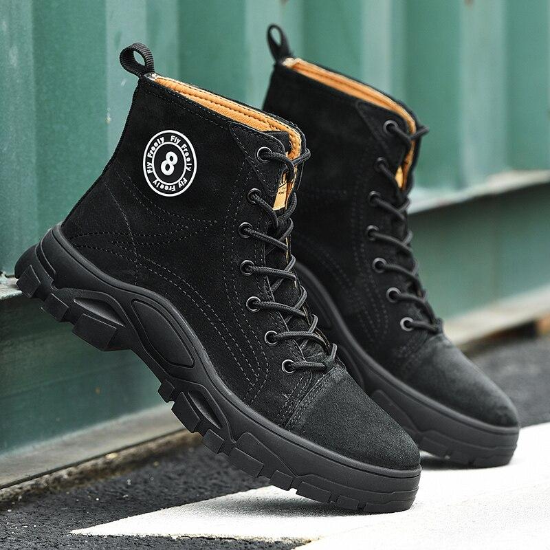 Новинка 2019 года; Ботинки martin; зимние мужские ботинки; ботильоны на резиновой подошве; мужские кроссовки; повседневная обувь; уличные ботинки... - 2