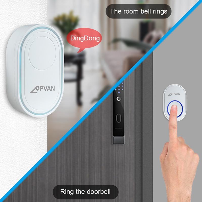 Hb518d40b2cf044b7bbcebdbc57031afds - CPVAN Wireless Doorbell Alarm System Smart WIFI Doorbell Strobe Siren Tuya App 58 Sound Compatible Home Security Alarm System