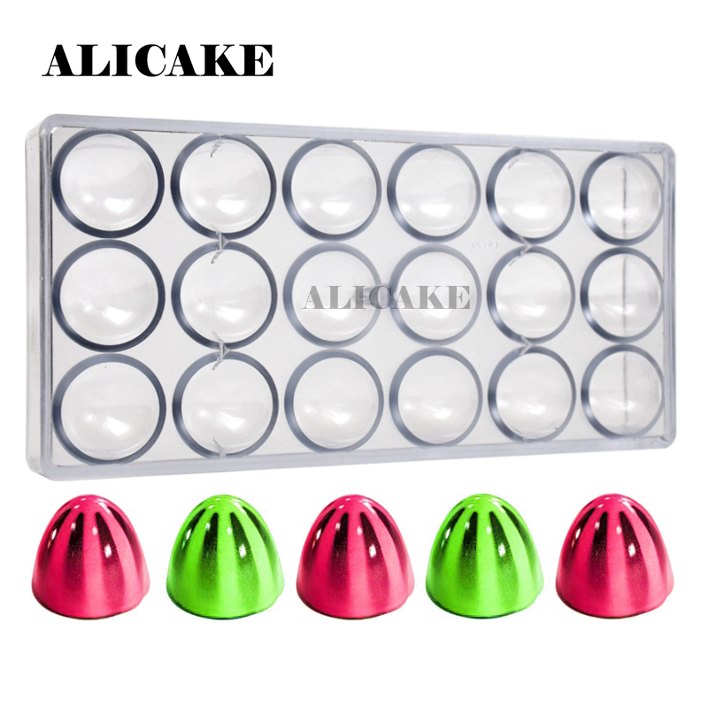 3D Polycarbonate Chocolate Molds Tray Form for Sphere Molde Chocolate Moulds Plastic Baking Mold Pastry Cake Bakeware Tools
