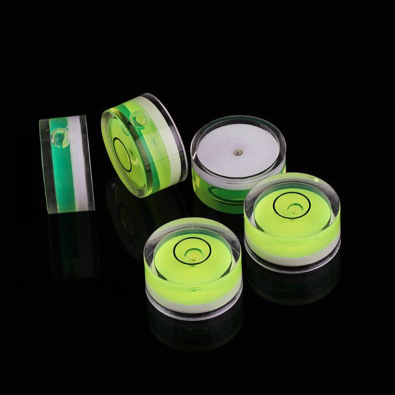5pcs Round Bubble Level Mini Spirit Level Bullseye Level Measurement Instrument