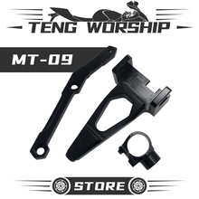 цена на For Yamaha MT09 Handlebar Damping Shock Absorber MT09 FZ09 2013-2019 Motorcycle Aluminum Steering Stabilize Damper Bracket FZ-09