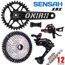 SENSAH 12 Geschwindigkeit Fahrrad MTB Shifter Schaltwerk Groupset Fahrrad 1X12 Kassette Kurbel Kette XT SLX DEORE M6100 GX NX XX1 Neue