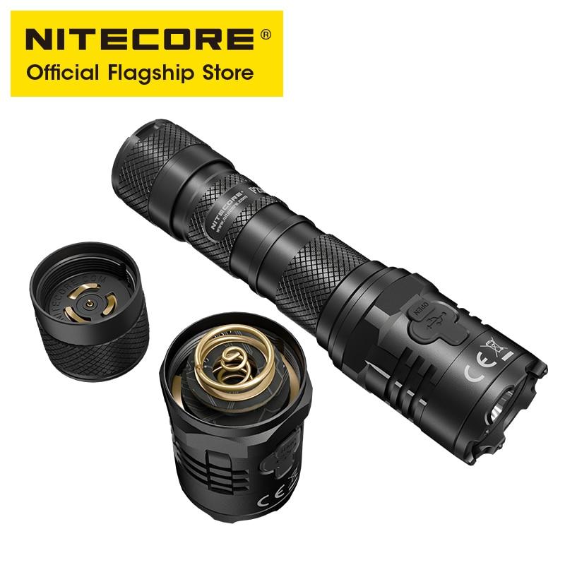 NITECORE P20iX USB-C Перезаряжаемые Фонари супер яркий военный тактический фонарик 4000 люмен 5000 мА/ч, NL2150HPi Батарея