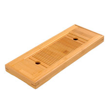 Chinese Table Rectangular Board Crafts Bamboo Tool Tea Tray Home Serving With Drain Tasteful Rack Teahouse(China)