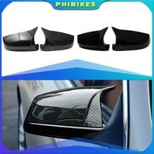 Para BMW 5 5 5 6 6 7 Serie F10 F11 F07 Gran Turismo 2010 -2015 E63 F12 F13 F01 F02 trasera tapas de cubierta de espejo lateral tipo alerón de carbono negro