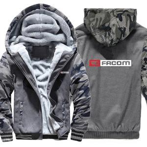 Image 2 - Obsługi Facom bluzy z kapturem kamuflaż rękaw kurtka z kapturem na zamek zima polar obsługi Facom Professionnels narzędzia bluza