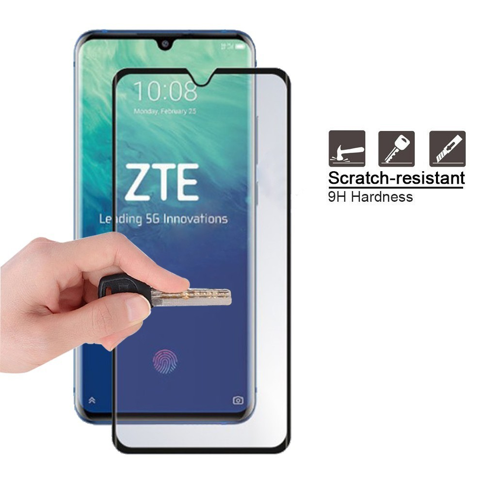 Tempered Glass For ZTE Axon 10 Pro 5G 0 3mm 3D 9H Full Cover Premium Screen