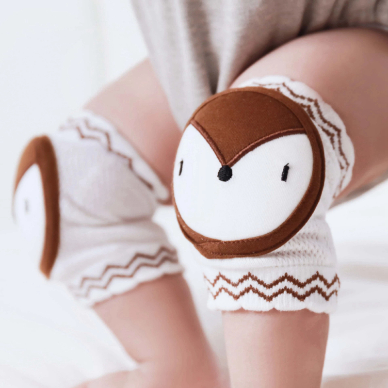Baby Toys Newborn Knee Pads Safety Crawling Elbow Cushion Baby Stroller Pacifier Chain Knee Support Infant Kneecap Nursing Gift