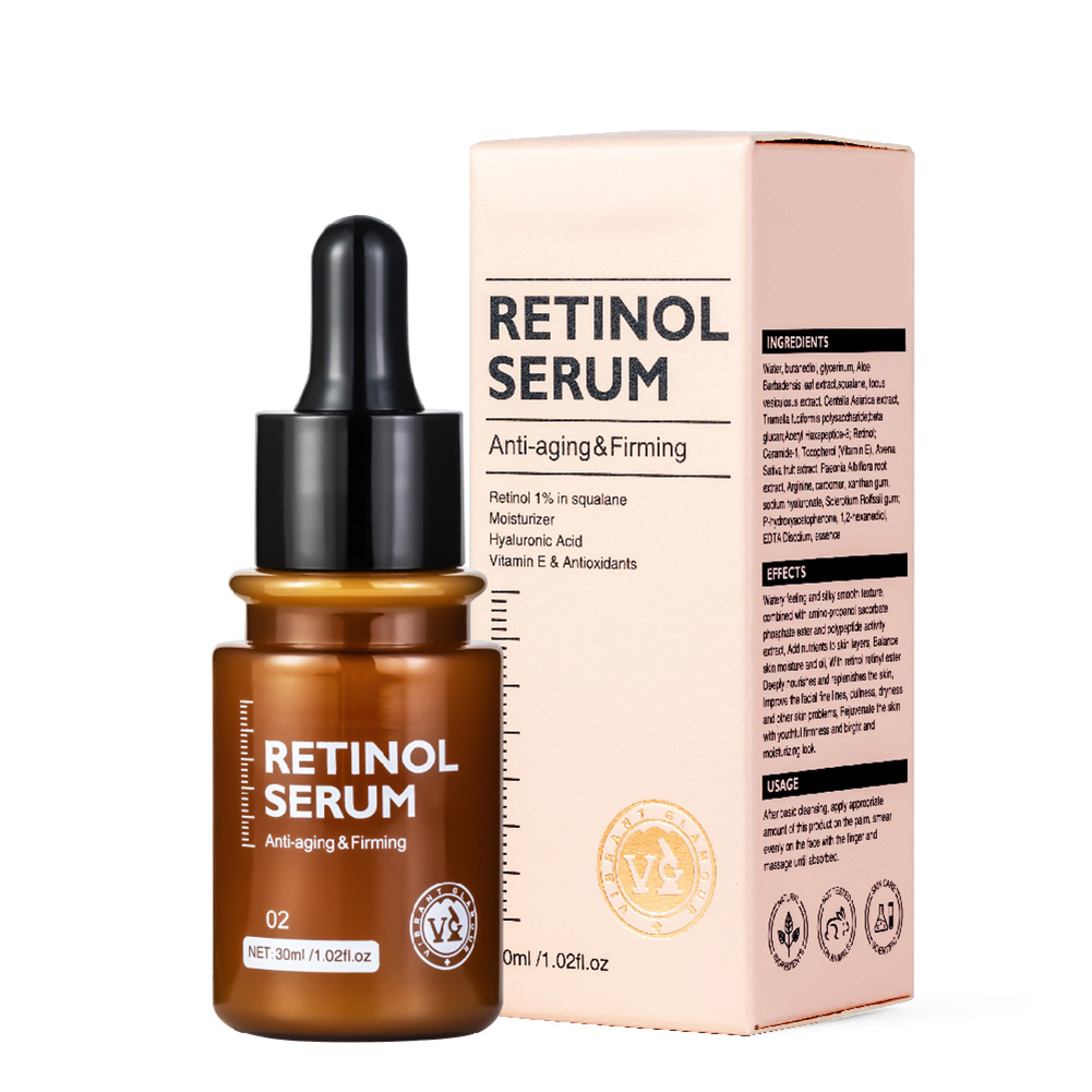 Retinol Face Serum Moisturizing Whitening Firming Fade Fine Lines Anti-wrinkle Anti-aging Essence 30ml